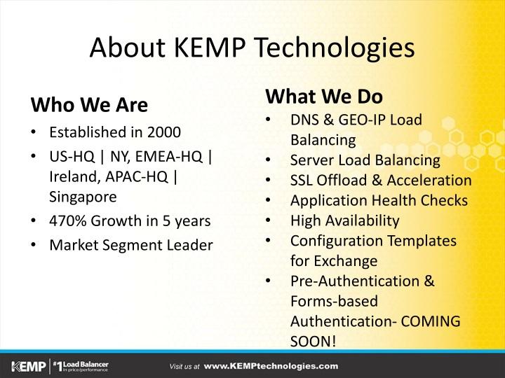 About KEMP Technologies