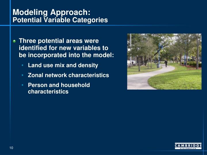 Modeling Approach: