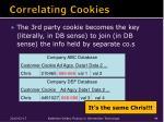 correlating cookies