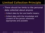 limited collection principle