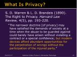 what is privacy1
