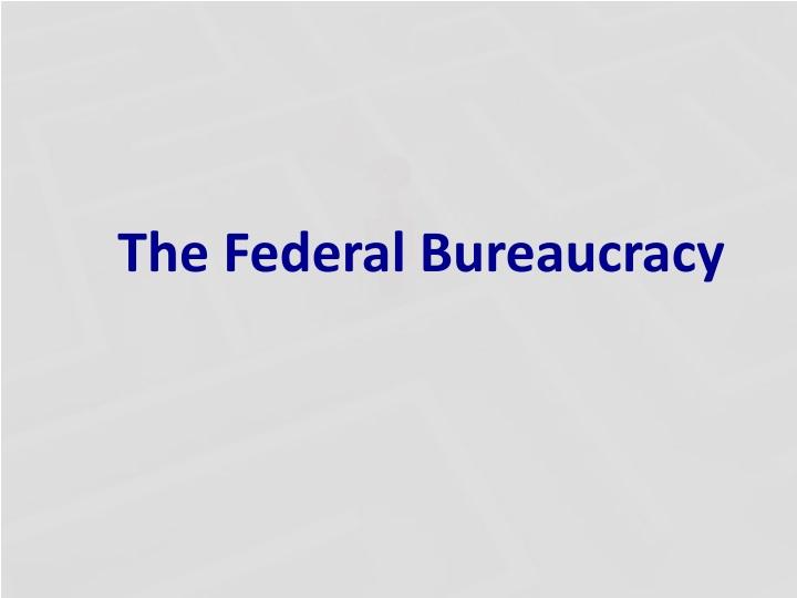 the federal bureaucracy n.