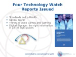 four technology watch reports issued