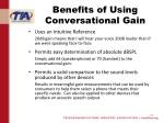 benefits of using conversational gain