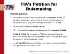 tia s petition for rulemaking