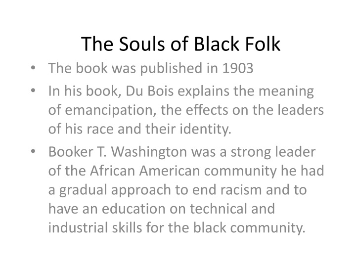 the souls of black folk n.
