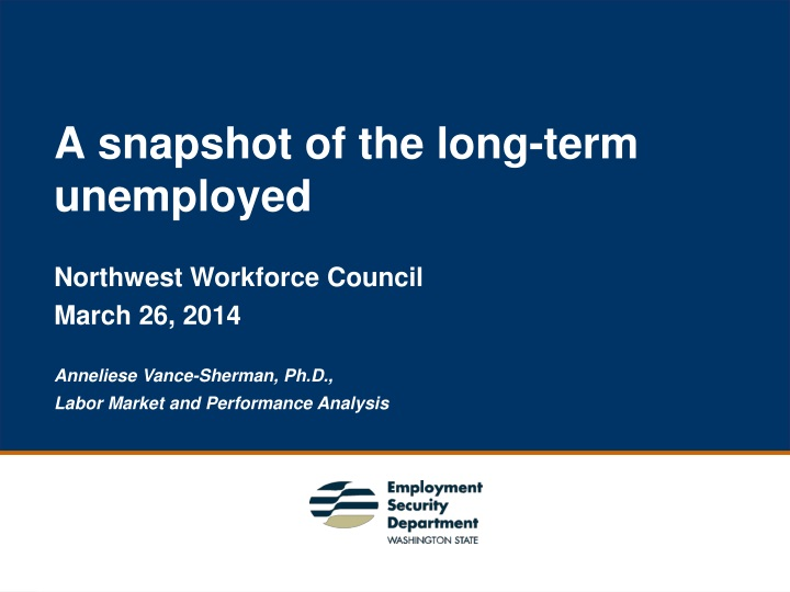 a snapshot of the long term unemployed n.