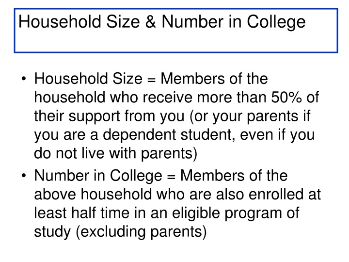 Household Size & Number in College