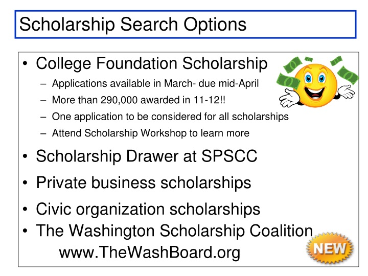 Scholarship Search Options