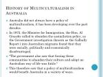 history of multiculturalism in australia