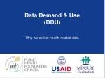 data demand use ddu