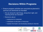 decisions within programs