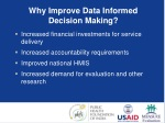 why improve data informed decision making 1