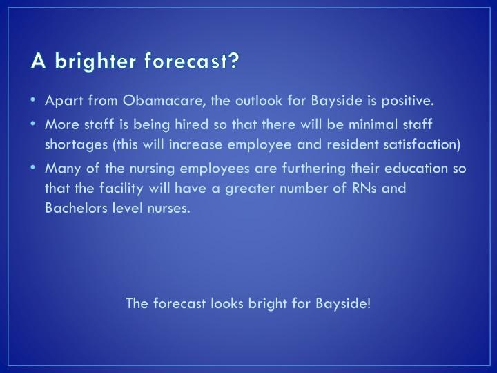 A brighter forecast?