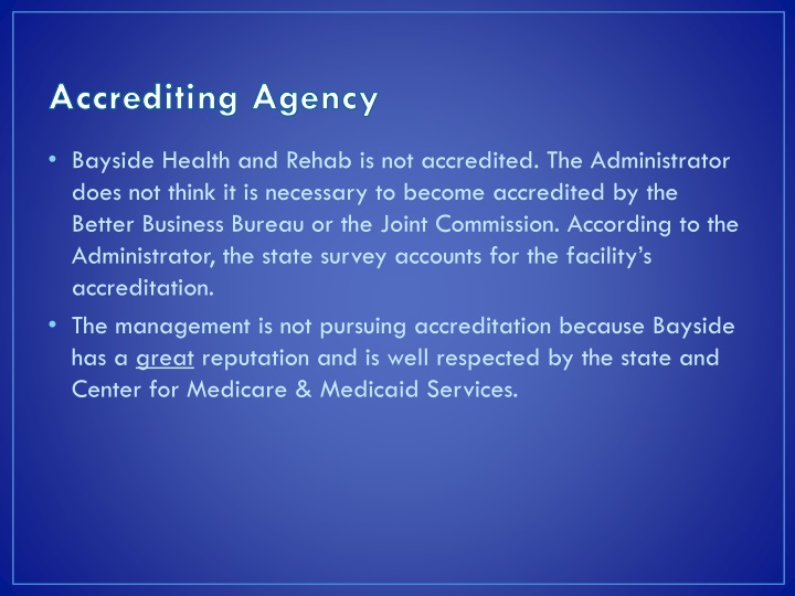 Accrediting Agency
