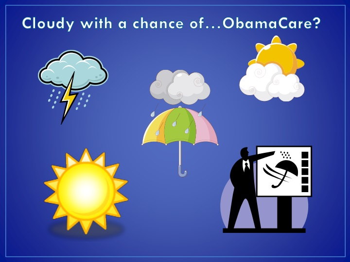 Cloudy with a chance of…