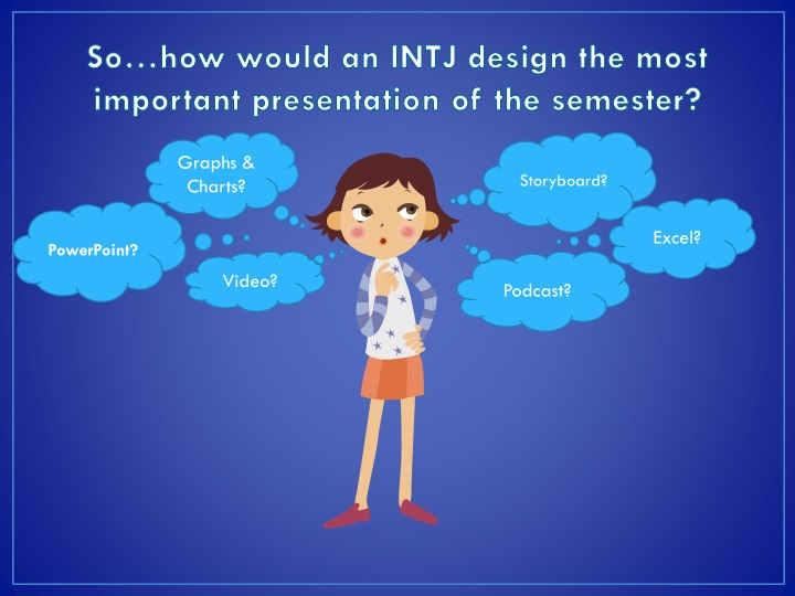 So…how would an INTJ design the most important presentation of the semester?