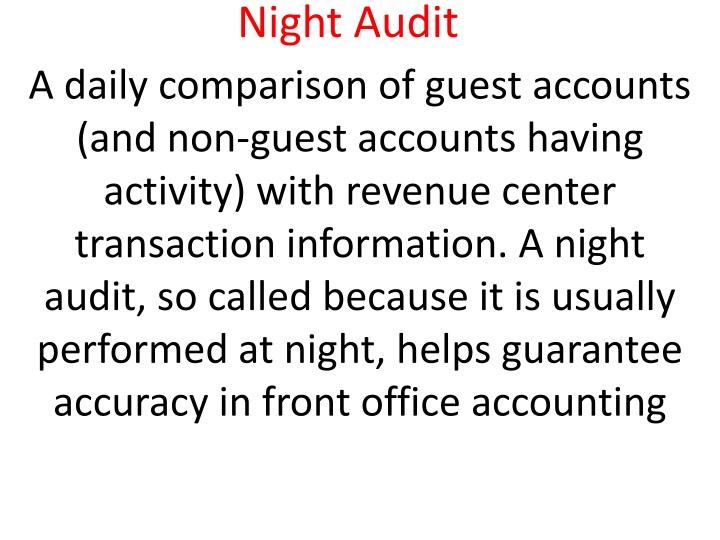 night audit n.