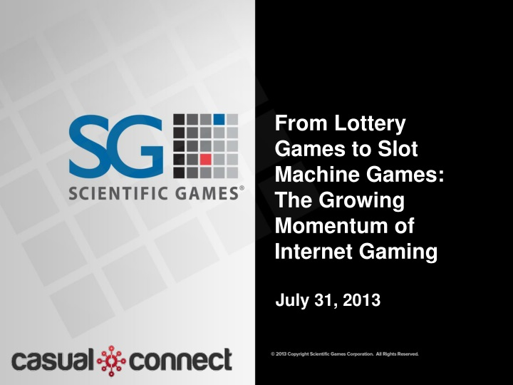 from lottery games to slot machine games the growing momentum of internet gaming