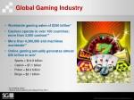 global gaming industry