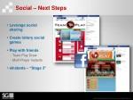social next steps