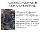 academic development distributive leadership