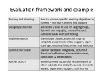 e valuation framework and example