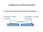 evidence to inform practice