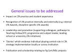 general issues to be addressed