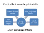 if critical factors are largely invisible