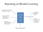 reporting on blended learning
