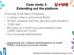 case study 3 extending out the platform