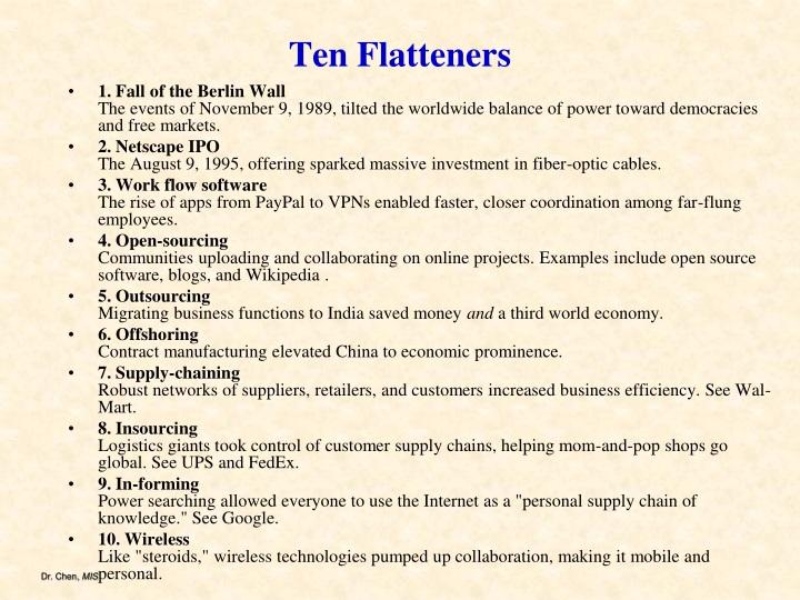 Ten Flatteners