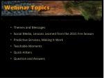 webinar topics