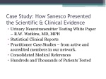 case study how sanesco presented the scientific clinical evidence