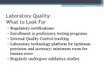 laboratory quality what to look for