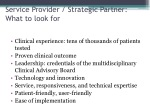 service provider strategic partner what to look for