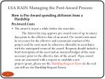 lsa rain managing the post award process 1