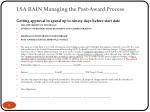 lsa rain managing the post award process 3