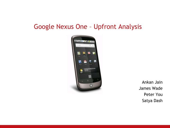 google nexus one upfront analysis n.