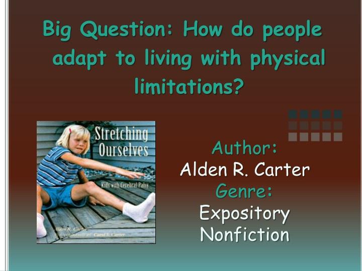 author alden r carter genre expository nonfiction n.