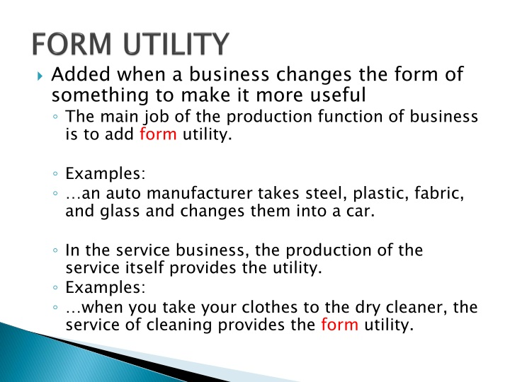 PPT - Economic Utility PowerPoint Presentation - ID:1506668