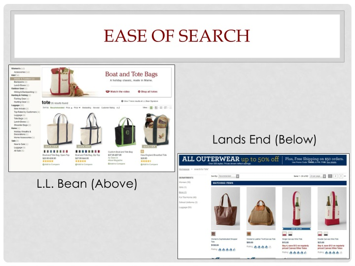 Ease of Search