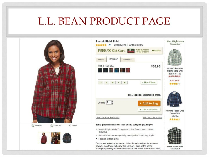 L.L. Bean Product page