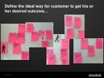 define the ideal way for customer to get his or her desired outcome