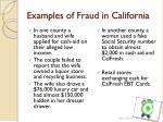 examples of fraud in california