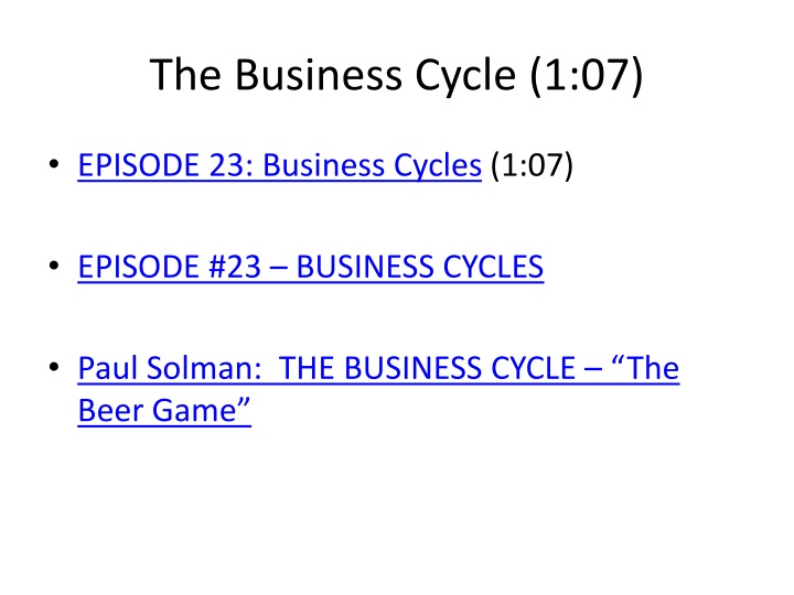 The Business Cycle (1:07)