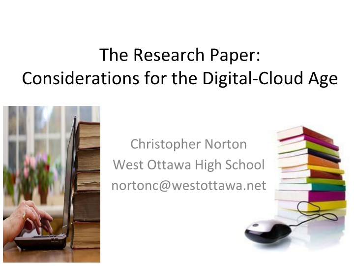 the research paper considerations for the digital cloud age n.