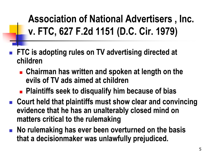 Association of National Advertisers , Inc. v. FTC,