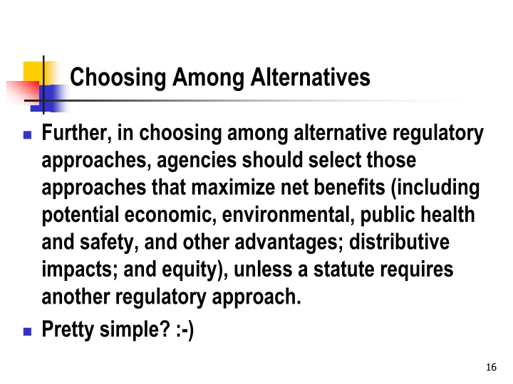 Choosing Among Alternatives